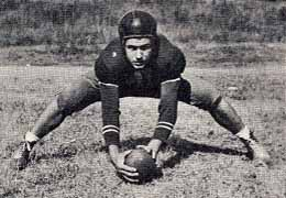 Sullivan played center for Union University in 1941 and &#39;42.