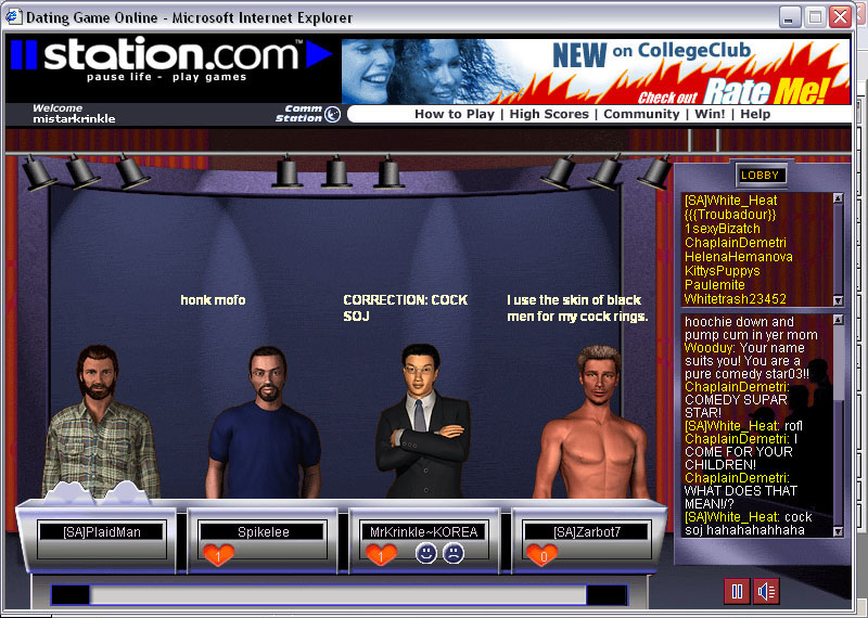 The dating game online sony stereo